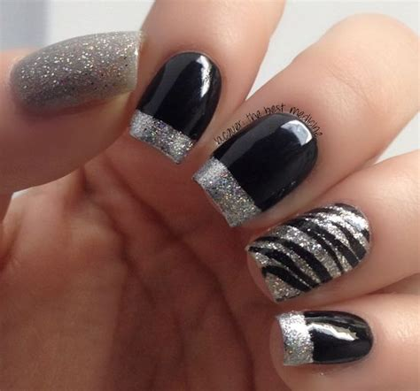 black and silver nail designs 18 fantastic silver nail designs pretty designs