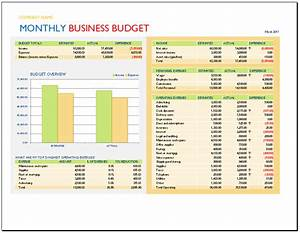 monthly business budget template budget templates With corporate budget template excel