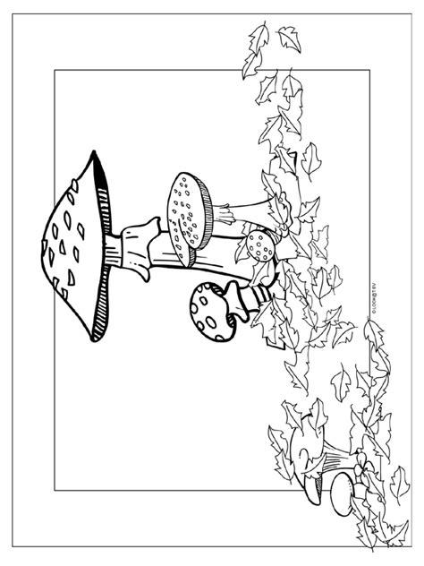 Kleurplaat Herfst Paddestoel by Kleurplaat Herfst Paddestoel Kleurplaten Nl