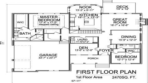 2 Floor House Plans 2 Story House Floor Plans With