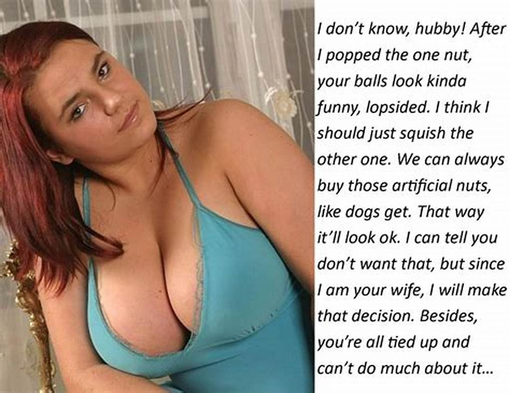 #Cuckold #Captions #138 #Pov: #Look #At #Her #When #She'S #Ballbustin