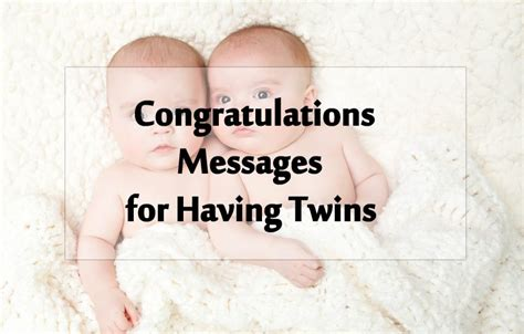 twin baby congratulation messages wishes  twins