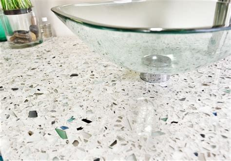 Recycled Glass Bathroom Countertops by Vetra