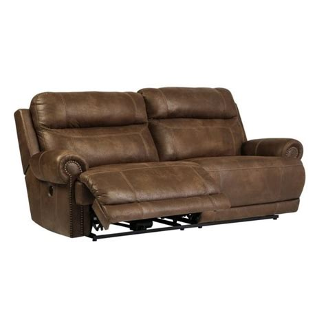 ashley power reclining sofa ashley austere 2 seat faux leather power reclining sofa in