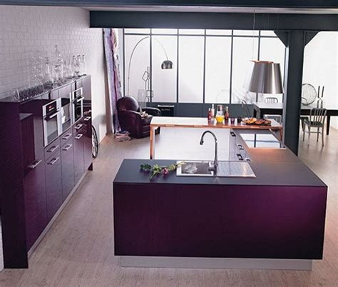 Purple And Lilac Kitchen In The Interior  Home Decoration