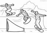 Snowboarding Coloring Pages Books Printable Coloringpages24 Pro sketch template