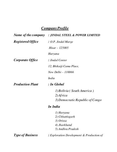 jindal financial report