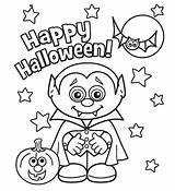 Vampire Coloring Pages Halloween Happy Printable sketch template