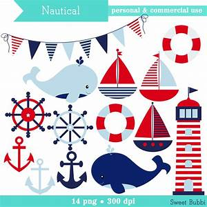 Buy 2 Get 1 FREE Boy's Nautical Clipart set of by sweetbubbi