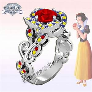 This snow white inspired ring is a fairy tale come true for Snow white wedding ring