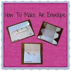 make your own envelopes out of a heart With how to print your own envelopes