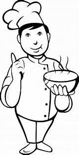 Coloring Pages Little Chef Chefs sketch template