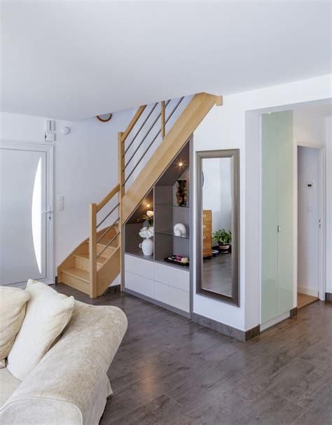 meuble haut bureau decoration sous escalier