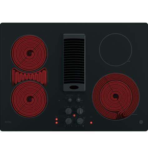 ge profile series  downdraft electric cooktop ppdjbb  appliances