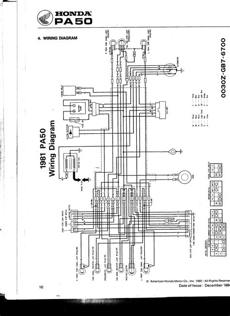 re 83 honda pa50ii hobbit cdi schematic moped army