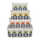 Buy Orla Kiely '70s Flower Container   Medium   Yellow   Amara