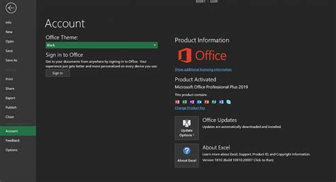 office 2019 black theme is back but outlook still
