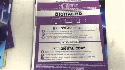 hd digital copy code  vudu disney itunes