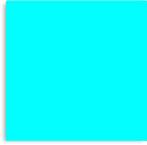 aqua the color quot neon aqua blue bright electric fluorescent color quot canvas