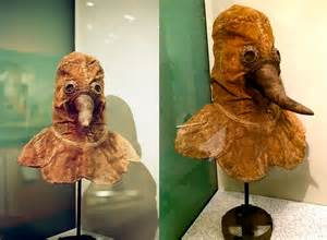 authentic  century plague doctor mask preserved