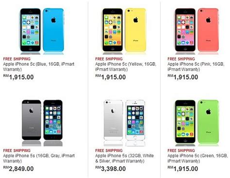 cost of iphone 5c buy iphone 5c iphone 5s early in malaysia ahead of 13891