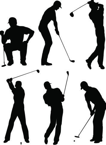 golfer silhouettes stock illustration  image
