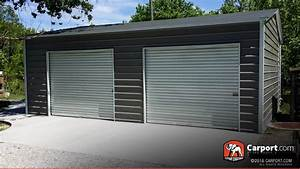 metal garages order a steel garage and metal garage kits With 2 car steel garage kits