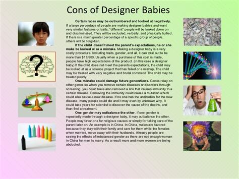 designer babies pros and cons genetics project