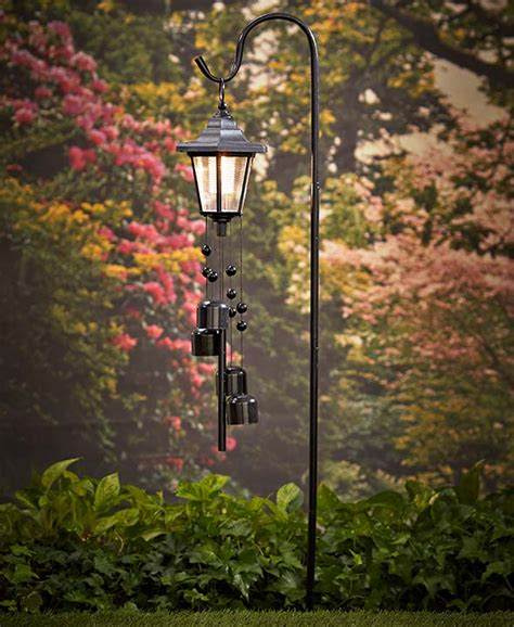 solar lighted wind chime with stake ebay