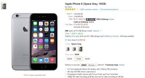 iphone 6 price in india apple iphone 6 price drops to nearly rs 41000 in india