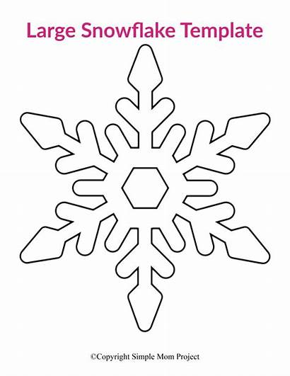 Snowflake Printable Template Templates Simple Blank Project
