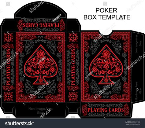 box template poker playing card stock vector