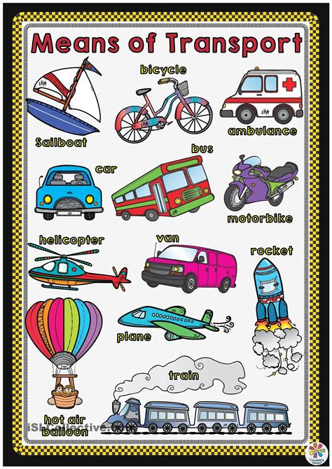 means of transport poster language and more
