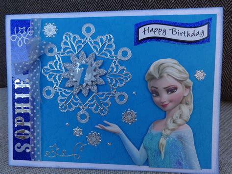 disney frozen girls personalised hand  birthday card