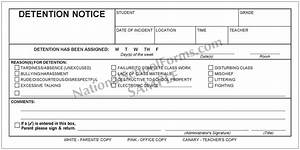 detention notice nationalschoolformscom With detention notice template