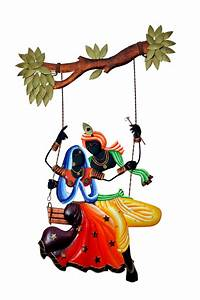 Buy Radha krishna under Jhula wall Hanging Online shopping