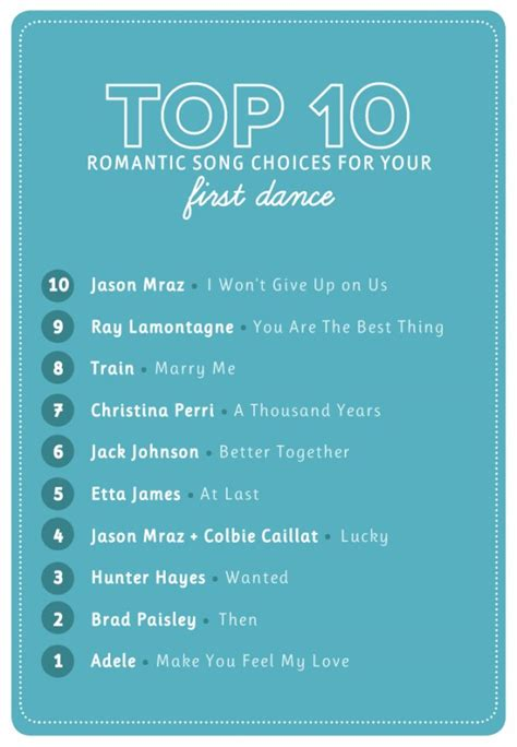 Popular Wedding First Dance Songs  The Budget Savvy Bride