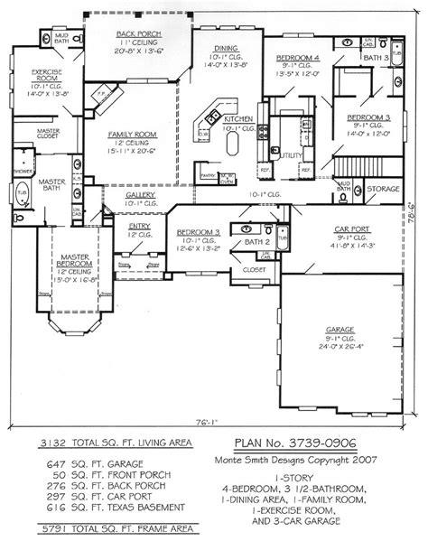 1 Story, 4 Bedroom, 3.5 Bathroom, 1 Dining room, 1 Family
