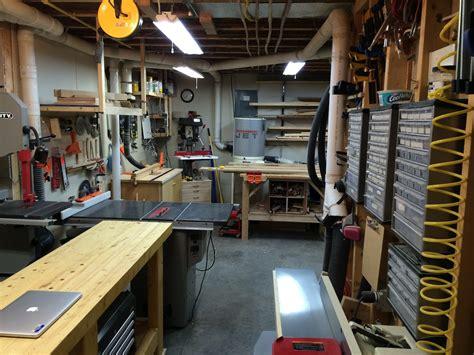 johns basement workshop  wood whisperer