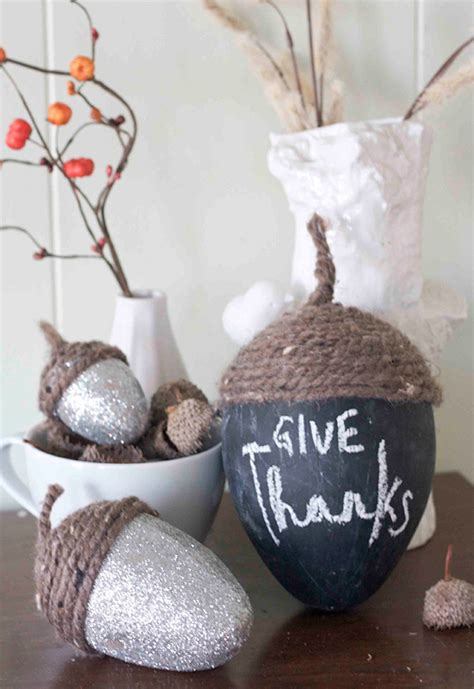 acorn inspired fall decor diy fall decor ideas making