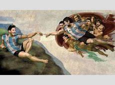 FC Barcelone Messi devient Adam et Maradona Dieu dans