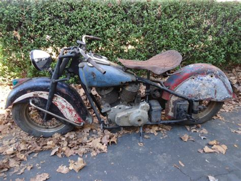 1948 Indian Chief Motorcycle Barn Find With Parts