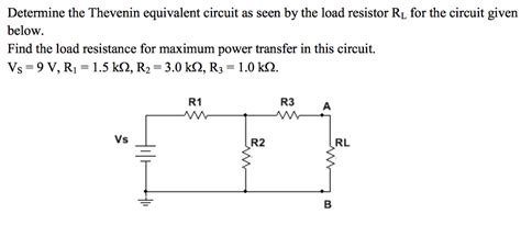 Solved Determine The Thevenin Equivalent Circuit Seen