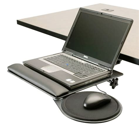 under desk laptop mount ergonomichome com notebook stand w mouse tray lpt td