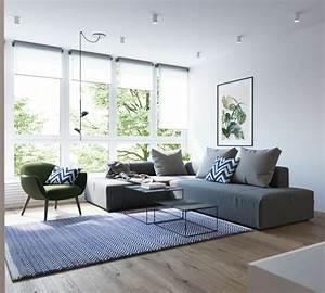 1001 conseils et exemples de deco interieur d With tapis exterieur avec canapé bleu vert