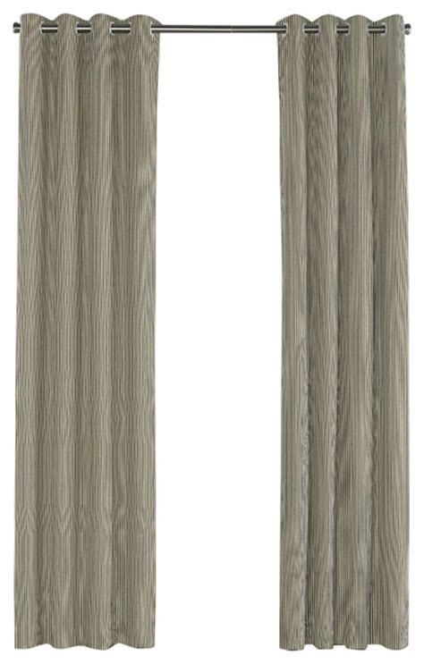 black ticking stripe grommet curtain contemporary