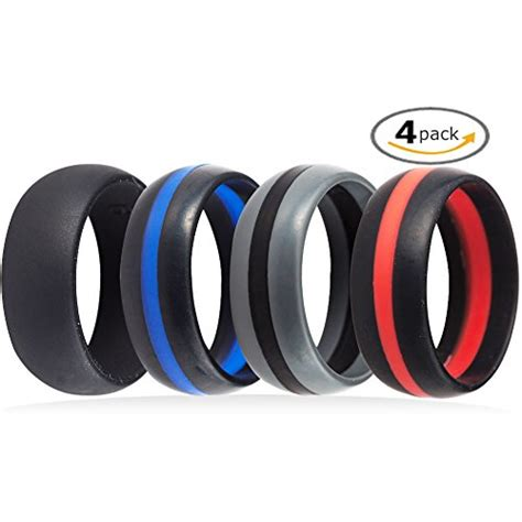 wedding rings for athletes 4 pack silicone rubber wedding engagement ring sports 1025