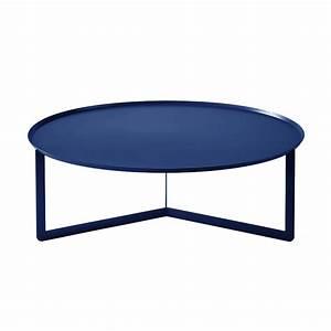 meme design coffee table round 5 navy blue metal With blue metal coffee table