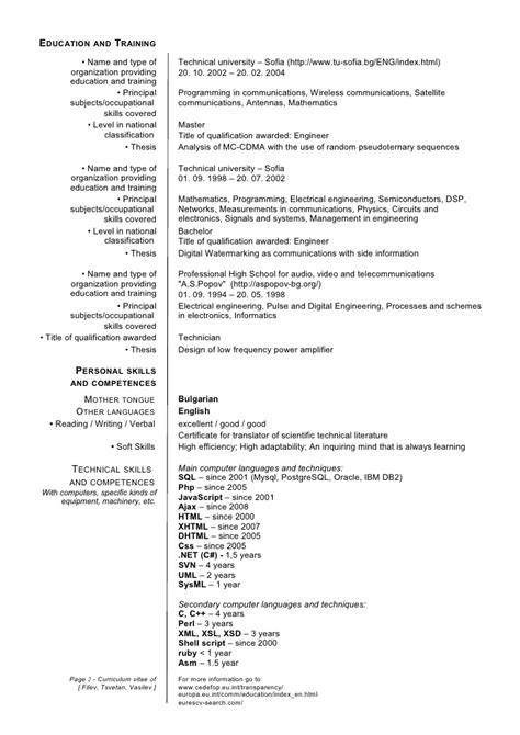 Current Education On Resume Exles by Current General Cv
