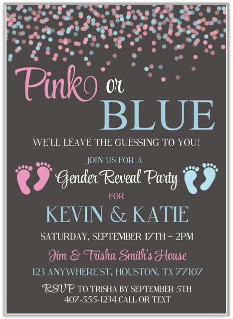 gender reveal invitations baby shower